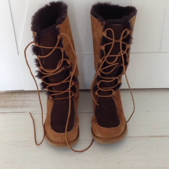 UGG Shoes - Ugg tall Whitley lace up boots